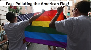 Fags Polluting the American Flag