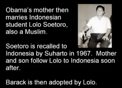 Obama's Asian Muslim Daddy that adopted him at the age of two