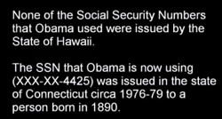 Obama's fake social security numbers