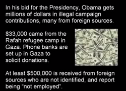 Obama accepts blood money from