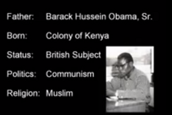 Obama's natural biological daddy who is a Muslim